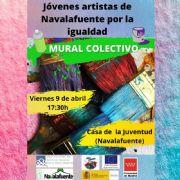 Mural colectivo: Jóvenes Artistas de Navalafuente por la Igualdad (Navalafuente).